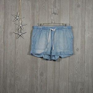 Cloth and Stone Cuffed Chambray Shorts Size M